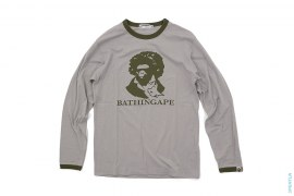 Beethoven Ape Long Sleeve Ringer Tee by A Bathing Ape