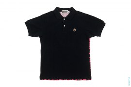 Leopard Camo Back Apehead Pique Polo by A Bathing Ape