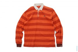 Apehead Long Sleeve Rugby Polo by A Bathing Ape