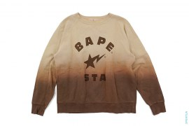 Bape Sta College Logo Dip Dye Crewneck Sweatshirt by A Bathing Ape