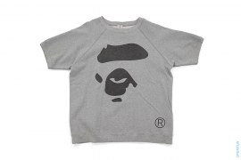 Apeface Short Sleeve Crewneck Sweatshirt by A Bathing Ape