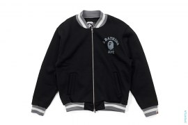 College Logo Acrylic Poly Blend Varsity Jacket by A Bathing Ape