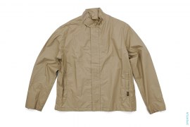 Spell Out Rip Stop Riri Stand Collar Windbreaker Jacket by A Bathing Ape