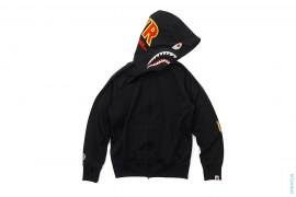 Chain Stitch PONR Track Suit Shark Full Zip Hoodie by A Bathing Ape