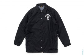 College Logo Oversized Fleece-lined Coaches Jacket by A Bathing Ape
