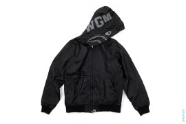 1st Sheepskin Leather Shark Full Zip Jacket by A Bathing Ape