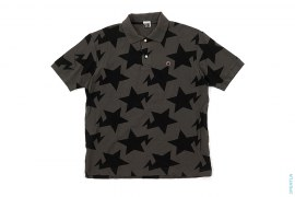 Big Sta All Over Apehead Pique Polo by A Bathing Ape