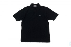 Black Apehead Pique Polo by A Bathing Ape