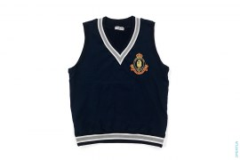 Apehead Emblem Sweat V-Neck Vest by A Bathing Ape