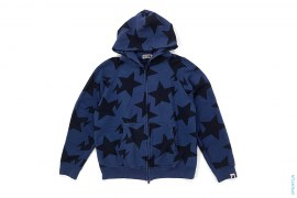 Big Sta All Over Full Zip Hoodie by A Bathing Ape