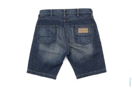 Basic Vintage Wash Denim Shorts by A Bathing Ape