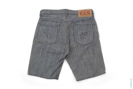 Houndstooth Plaid Sta Pocket Denim Shorts by A Bathing Ape