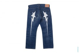 Long Sta Vintage Wash Denim by A Bathing Ape