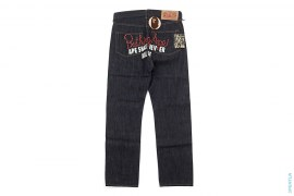 Applique Rope Logo Raw Denim by A Bathing Ape
