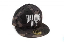 Color Camo New York Logo Fitted by A Bathing Ape x New Era