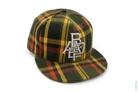Isetan Plaid Overlay Logo Woven Fitted by A Bathing Ape x New Era