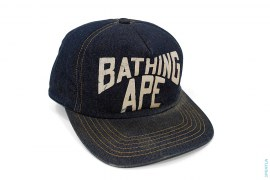 New York Logo Denim Fitted by A Bathing Ape
