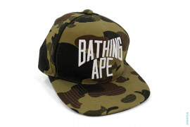 1st Camo New York Logo Snapback by A Bathing Ape
