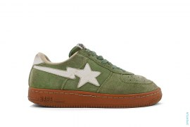 Suede Bapesta Low-Top Sneakers by A Bathing Ape