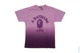College Logo Dip Dye Tee by A Bathing Ape