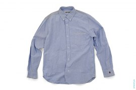 Apehead Border Accent Chambray Button-Up Shirt by A Bathing Ape