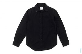 Double Collar Chomper Canvas Button-Up Shirt by OriginalFake