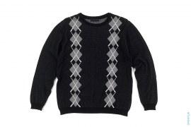 X Argyle Pattern Crewneck Sweatshirt Knit Sweater by OriginalFake