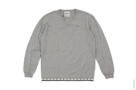 Chomper Bottom V-Neck Knit Sweater by OriginalFake