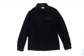 Circle Chomper Accent Wool Shirt Jacket by OriginalFake