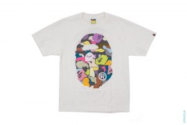 Grey Multi Camo Straight Through Tee by bape