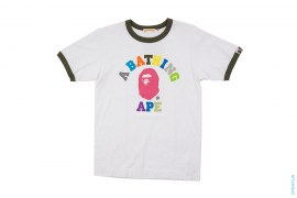 Rainbow College Logo Ringer Tee by A Bathing Ape
