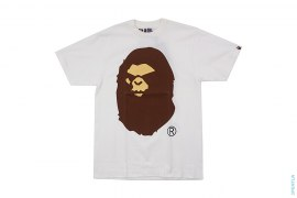 Classic Mad Apehead Straight Through Tee by A Bathing Ape