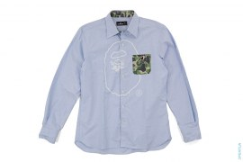 Mr. Bathing Ape ABC Camo Accent Button-Up Shirt by A Bathing Ape