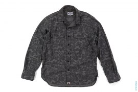 Jacquard ABC Camo Button-Up Shirt by A Bathing Ape