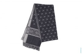 X Monogram Reversible Pura Lana Pettinata Scarf by OriginalFake