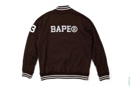 BAPE Tackle Twill Heavy Rayon  Varsity Jacket by A Bathing Ape