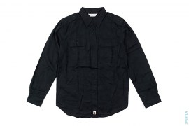 Jacquard Camo Epaulette Button-Up Shirt by A Bathing Ape