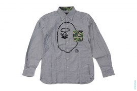 Mr. Bathing Ape ABC Camo Pocket Apehead Print Button-Up Shirt by A Bathing Ape