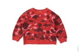 Color Camo Crewneck Sweatshirt by A Bathing Ape