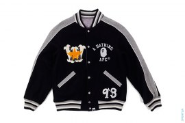 Bapexclusive Milo Warriors Reversible Varsity Jacket by A Bathing Ape