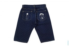 Drip Pinstripe Denim Shorts by BBC/Ice Cream